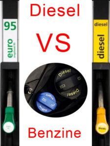Verschil diesel en benzine